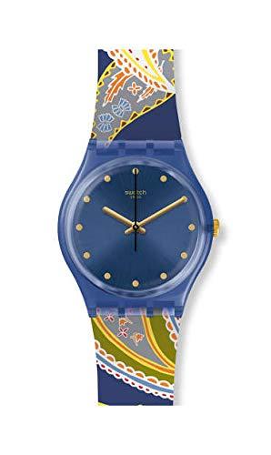 Swatch Orologio Analogico Quarzo Svizzero Donna con Cinturino in Silicone GN263