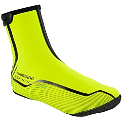 Shimano Überschuhe Asfalto H2O/S1000R, Cubrezapatillas Todo el Año, Unisex, Amarillo Fluorescente, L (42-44)