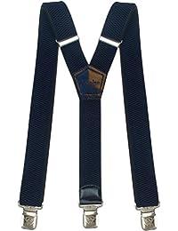 Msendro  Bretelle Forti Y Forma,  Herren Y-Form , blau - Blu marino - Größe: Lungo