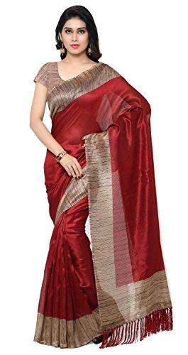 Rajnandini Tussar Art Silk Saree (Joplnb3006_Maroon Color)