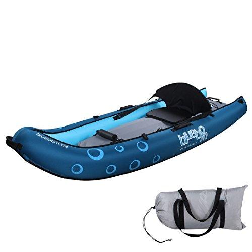 Blueborn Coasteer SRE240 Sit-On-Top Boot 1 Person 240x88 cm Kanu Kajak Schlauchboot Boot, blau