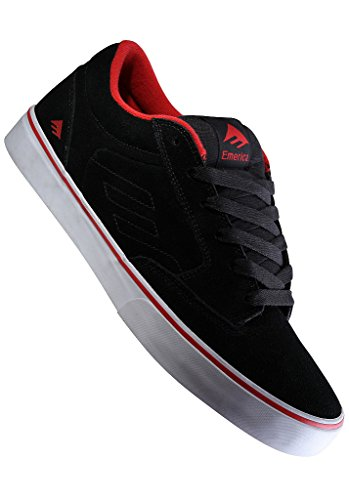Emerica JINX SMU 6307000001, Baskets mode mixte enfant Noir - Black/Red/White