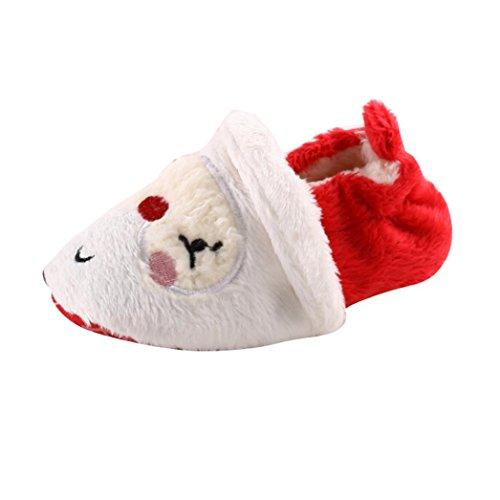 Clode® Kleinkind Säuglings Neugeborene Baby Weihnachtsmann weiche Sohle Weihnachten Prewalker Schuhe Rot