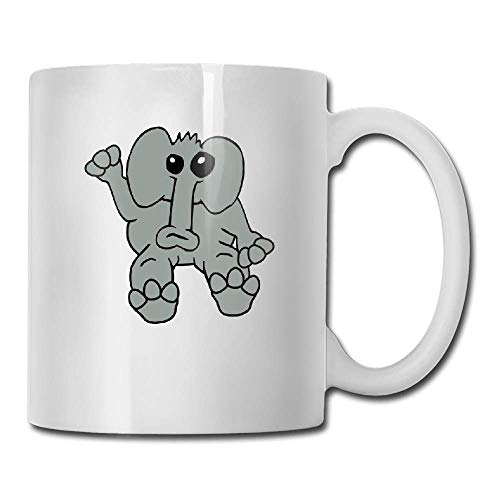 DHIHAS Strong Stability Durable taza de café Elefant Winkt Tea Cup Novelty Gift for Birthday