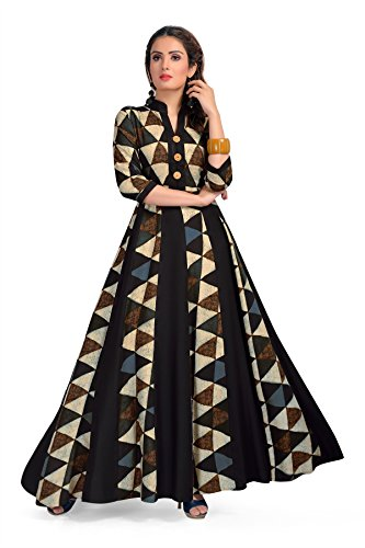 MT Printed Designer Maxi Gown style Kurta - Party wear long rayon...