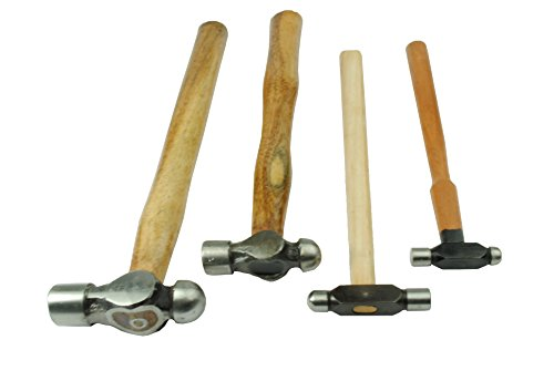 Set of 4 Ball Pein Hammers 1oz, 2oz, 4oz & 8oz. (J1290) Free UK Postage by Proops