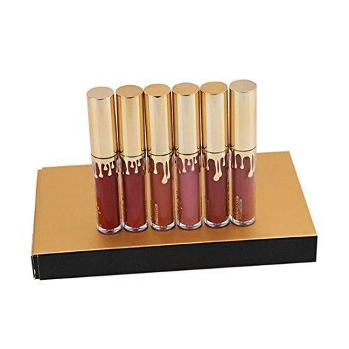 GODHL Lippenstifte Liquid Matt Lip Gloss Dauerrhaft Lip Liner Make up 6 Stück