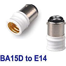 2x B15/BA15D a E14adaptador portalámparas Bombillas convertidor Soporte NUEVO de