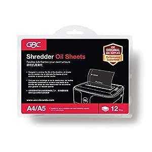 GBC Shredder Oil Sheets A5 (Pack of 12)