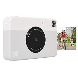 Kodak Printomatic Digital Instant Print Camera (Grey), Full Color Prints On Zink 2x3 Sticky-backed Photo Paper - Print Memories Instantly