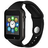 Bluetooth Smartwatch, Fitness Armbanduhr mit SIM Card Slot GSM Sport Watch Activity Tracker mit Kamera Pedometer Smart Gesundheit Armbanduhr Schlaftracker Handy für Android/IOS Smartphones