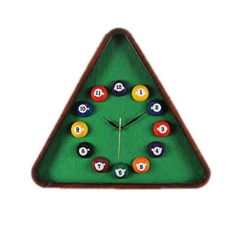 SZ Billiard Wanduhr Creative Clock Mute Wanduhr Präzise PVC-Batterie Nicht im Lieferumfang enthalten Geeignet für Home, Restaurant, Küche, Büro, Schule