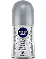 NIVEA MEN Deodorant Roll On, Silver Protect, 50ml
