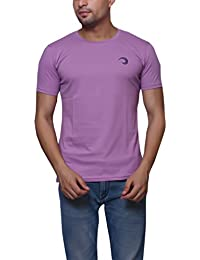 Violet Cotton Round Neck T-Shirt For Men's/Boy's Half Sleeves Tees Casual Tshirt By Oneliner Clothing