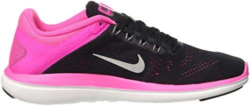 Nike Flex 2016 Run, Scarpe da Corsa Donna Nero (Black/Metallic Cool Grey/Pink Blast/White)