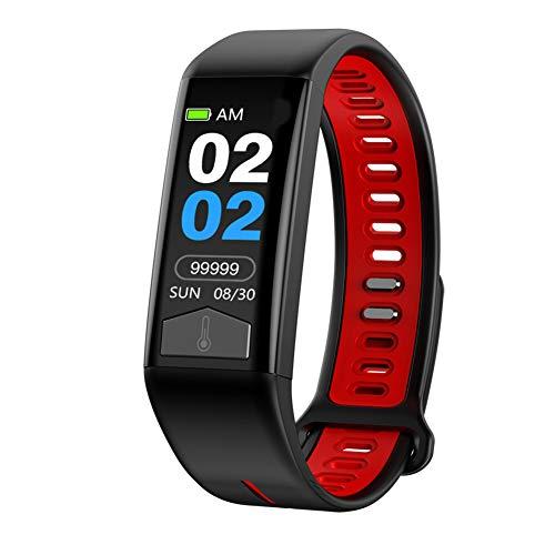 9302sonoaud Braccialetto astuto di Bluetooth dell'inseguitore di idoneità di Sport del Tempo di Temperatura corporea di 0.96 Pollici Rosso