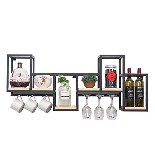FPigSHS Schränke Weinschränke Wand Weinschrank Wand-Weinregal Wandbehang Display-Ständer Weinglas...