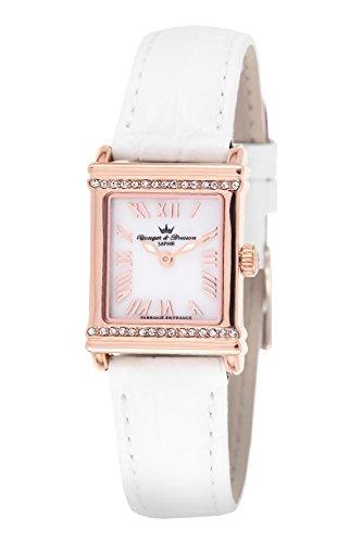 Yonger Bresson &-DCR 1695-02-Orologio da donna con cinturino in cuoio, Quadrante, in madreperla, colore: bianco