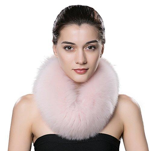 stili classici 100% originale più economico URSFUR scaldacollo/sciarpa invernale da donna realizzato in pelliccia di  volpe,regalo stravaganto di Natale e regalo invernale,mostra tuo fascino