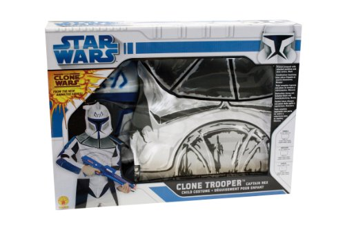 Clonetrooper Captain Rex Small Box Set Kostüm, Größe L, blau ()