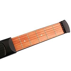 Guitare De Poche 6 Frettes Gadget Outil Cordes De Pratique Pour Les Débutants Noir
