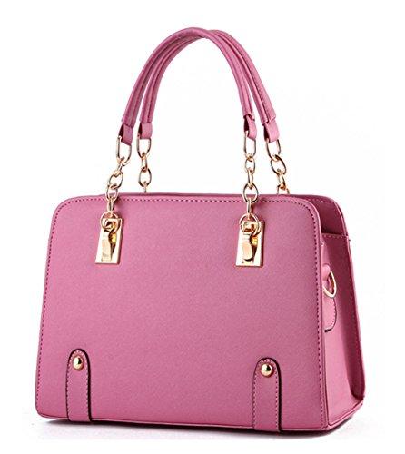 Pu Cool Damen Handtaschen, Hobo-Bags, Schultertaschen, Beutel, Beuteltaschen, Trend-Bags, Velours, Veloursleder, Wildleder, Tasche Rosa Keshi