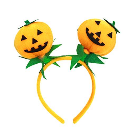 Flanell Kürbis Ball Kopfschmuck Stirnband für Cosplay Kostüm/Weihnachtsfeier/Halloween-Dekorationen(Gelb) ()