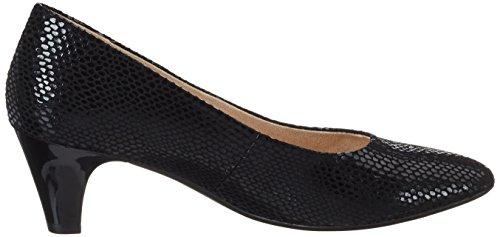 Caprice 22403, Scarpe con Tacco Donna Nero (Black Reptile)