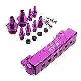 Vuoto collettore kit auto in lega di alluminio 6porte Turbo Wastegate vuoto collettore di aspirazione 1/8npt-purple