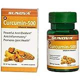 Sunova Curcumin-500 mg Curcumin extract 95% and piperine extract 95%.