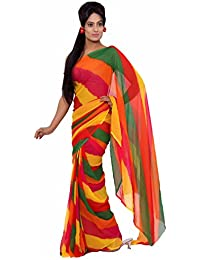 Aaradhya Fashion Georgette Saree (Afj-274_Multi Color)