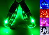 GoDoggie-GLOW - Reflective LED Dog Safety Harness - USB Rechargeable - Improved Dog Visibility & Safety - 5 Colours & 3 Sizes - Ultra-Bright LED's - Connects to Devices - No Batteries - Great Fun - Your Dog is Visible & Safe - Green Medium
