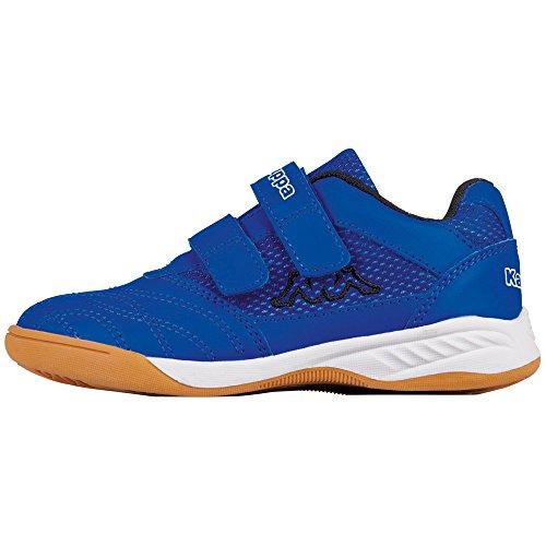 Kappa kickoff, scape per sport indoor unisex-bambini, blu (blue/black 6011), 35 eu