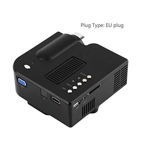 Mimagogo UC28 + Mini-Projektor (tragbar, HD von Cinã©Ma Maison de Cinã©Ma Interface HDMI) EU Plug Schwarz