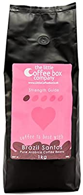 Brazil Santos Coffee Beans 1kg - 100% Premium Arabica Light Roast from The Little Coffee Box Company