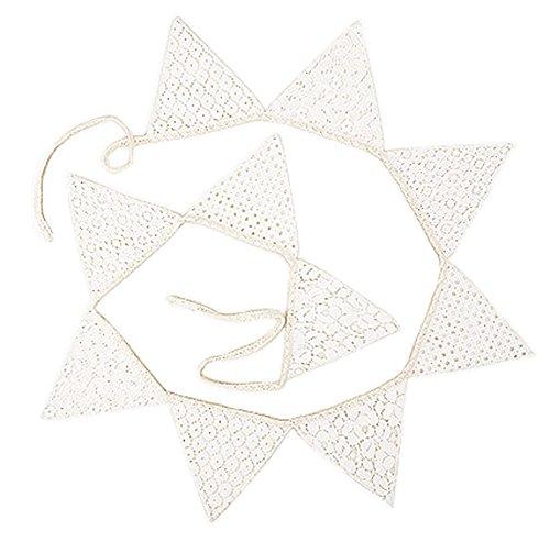 Dentelle Pennant Parti Bannière Drapeau triangulaire mariage romantique