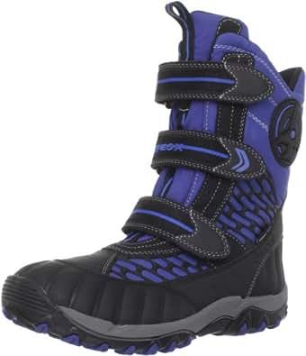 Geox J ALASKA B.WP D J2406D0FUCEC0042, Jungen Stiefel, Blau (ROYAL/BLACK C0042), EU 27