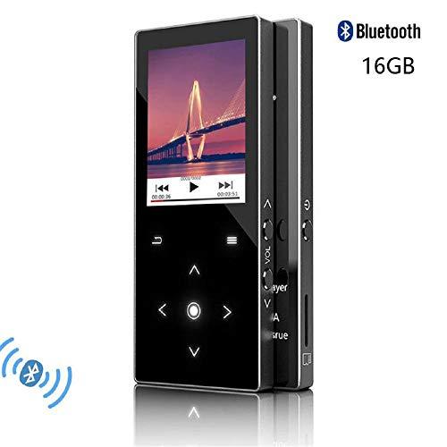 CFZC Bluetooth-MP3-Player, Musik-Player, 16 GB, mit Lautsprecher, tragbar, verlustfrei, Metall, MP4-Player mit FM-Radio-Expand, 64 GB Micro-SD-Kartenschlitz