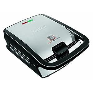 Tefal Snack Collection SW852D (700 W, Multifunktionsgerät für Waffeln und Sandwiches) schwarz/edelstahl