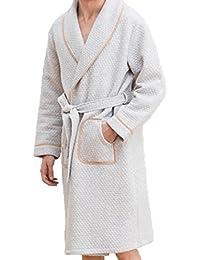 b763343d2 Camisón Invierno Cálido Y Cómodo Pijama De Algodón De Los Hombres Mangas  Largas En El Servicio