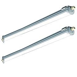 2er Set 36 Watt SMD LED Decken Feuchtraum Leuchten 4000 Kelvin Industrie Wannen Strahler