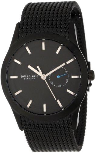 Johan Eric JE1300-13-007 - Reloj de Pulsera Hombre, Acero Inoxidable, Color Negro