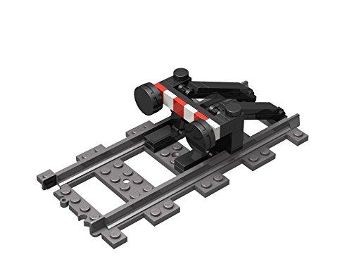 Steinchenwelt LEGO City Eisenbahn Prellbock für die Gleise und Schienen der ferngesteuerten LEGO Züge