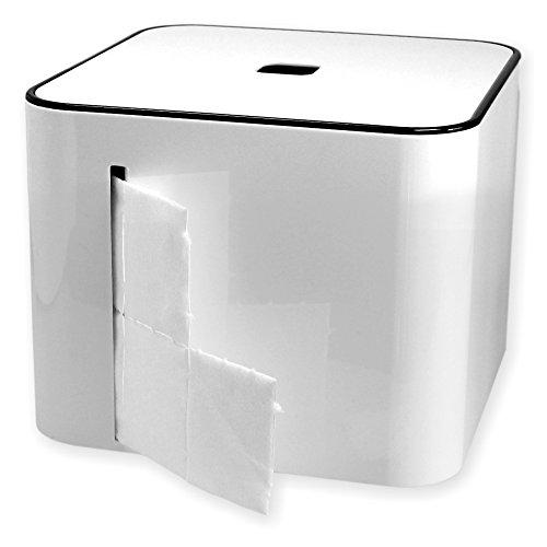 Zellettenbox The Cube weiss (ohne Zelletten) mit Ablagefach und Deckel -