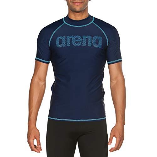 ARES5 Arena Herren Sonnenschutz T-Shirt Uv, Navy-Sea Blue, M -