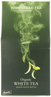 Thé de feuille de réserve blanche de thé blanc organique de Hampstead Tea London - 1 x 40 grammes