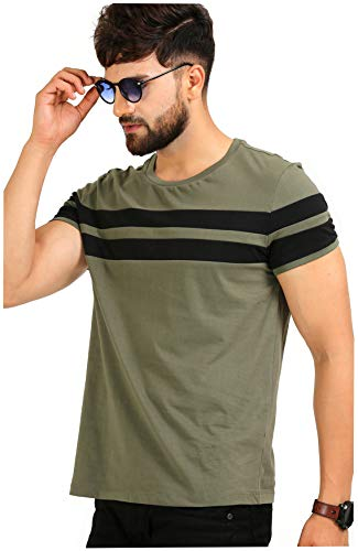 AELO Men's Cotton T Shirt-(Aelotshirt1020ol-P_Olive)