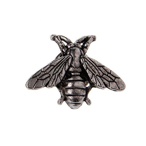 Kofun Brosche, Vintage Metall Bienen Pins Kleine Insekt Broschen Neuheit Für Anzug Weste Männlichen Schmuck ()