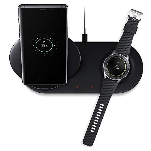 Bibao 2-in-1 Schnellladegerät/Dock-Halterung, abnehmbar, für Samsung Galaxy Note 8 Note 9 S9/S8/Samsung Galaxy Watch 8 Station