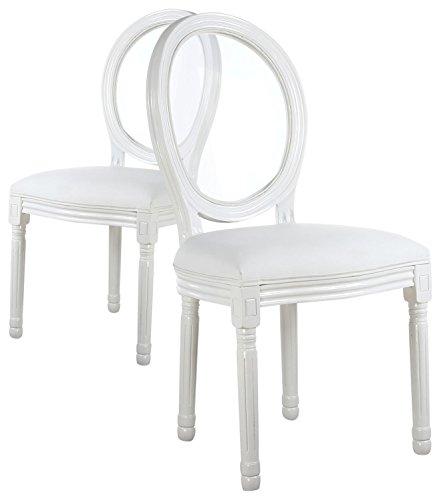 Chaise blanche bois